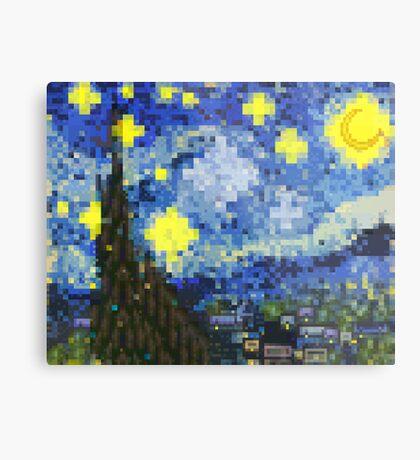 8-bit Starry Night Metal Print