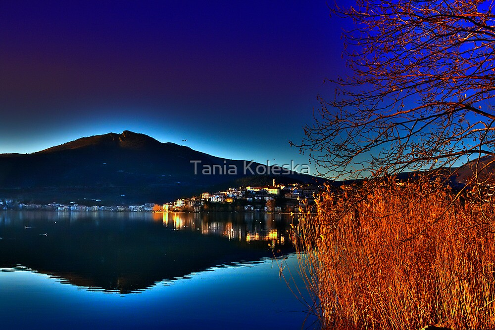 view of a city at sunset time by Tania Koleska
