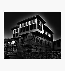 Black & white Traditional old house at Kastoria (Makedonia, Greece) Photographic Print