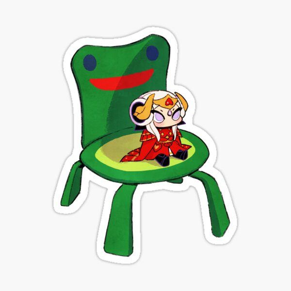 Edelgard on froggy chair Sticker