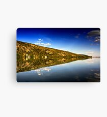mirror mountain in Kastoria Lake (Makedonia, Greece) Canvas Print