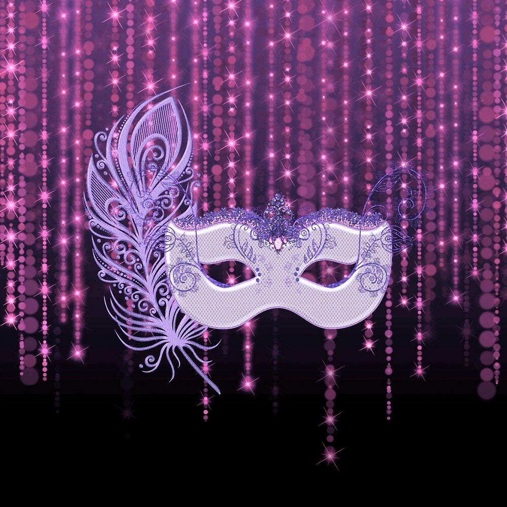 Purple Masquerade Pink String Lights by moondreamsmusic