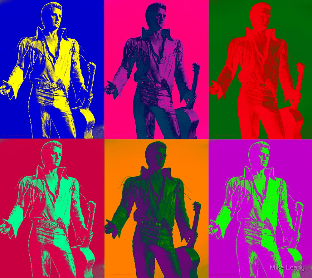 Elvis Beale Street Statue Pop Art Montage by Mike Leahy