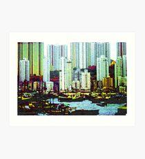 Kowloon from Hong Kong Harbour Art Print