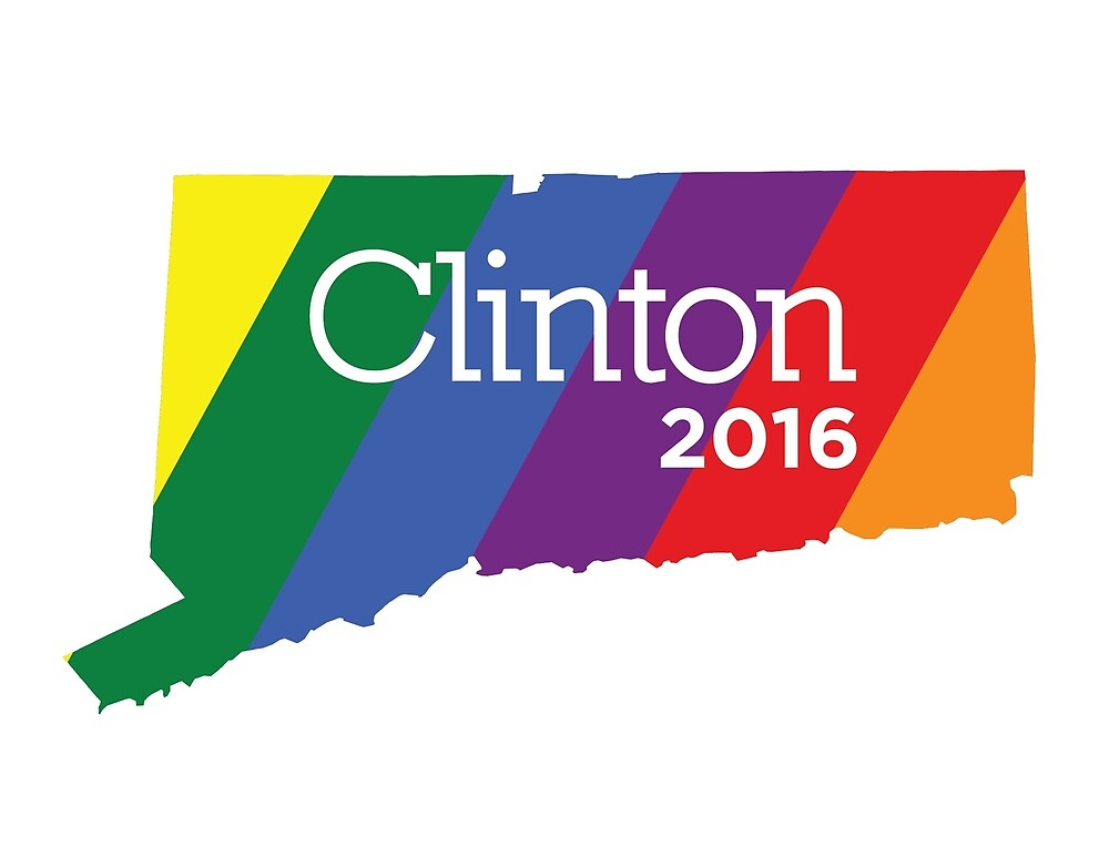 Hillary 2016 State Pride - Connecticut by unitedinthreads