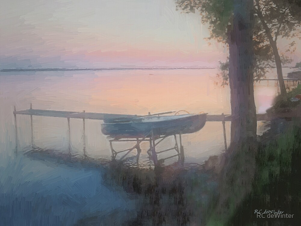 Lake Mist at Sunrise by RC deWinter