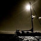 Sailboat - Marina La Cruz de Huanacaxtle, Mexico by Jessica Chirino Karran