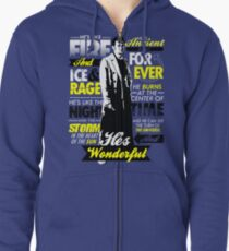 Fire and Ice and Rage  Zipped Hoodie