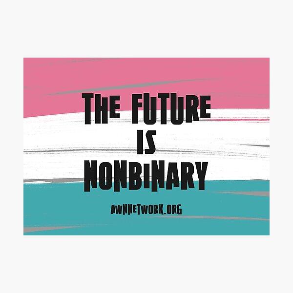 Trans Pride: Future is Nonbinary Photographic Print