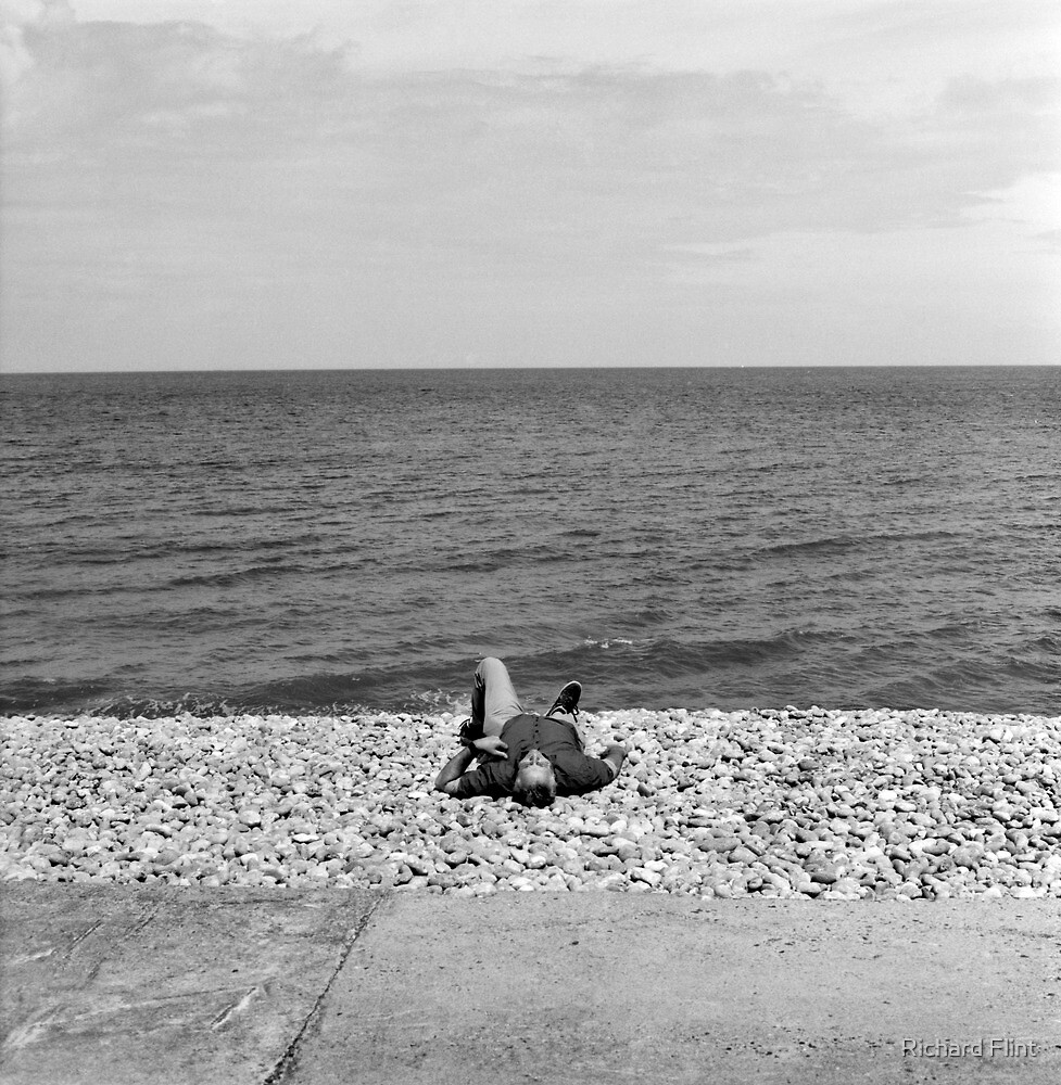The Sunbather - Sheringham by Richard Flint
