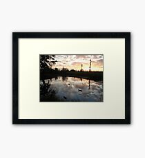 SUNSET WITH MUSCOVIES (ECONFINA CREEK, FL) Framed Print