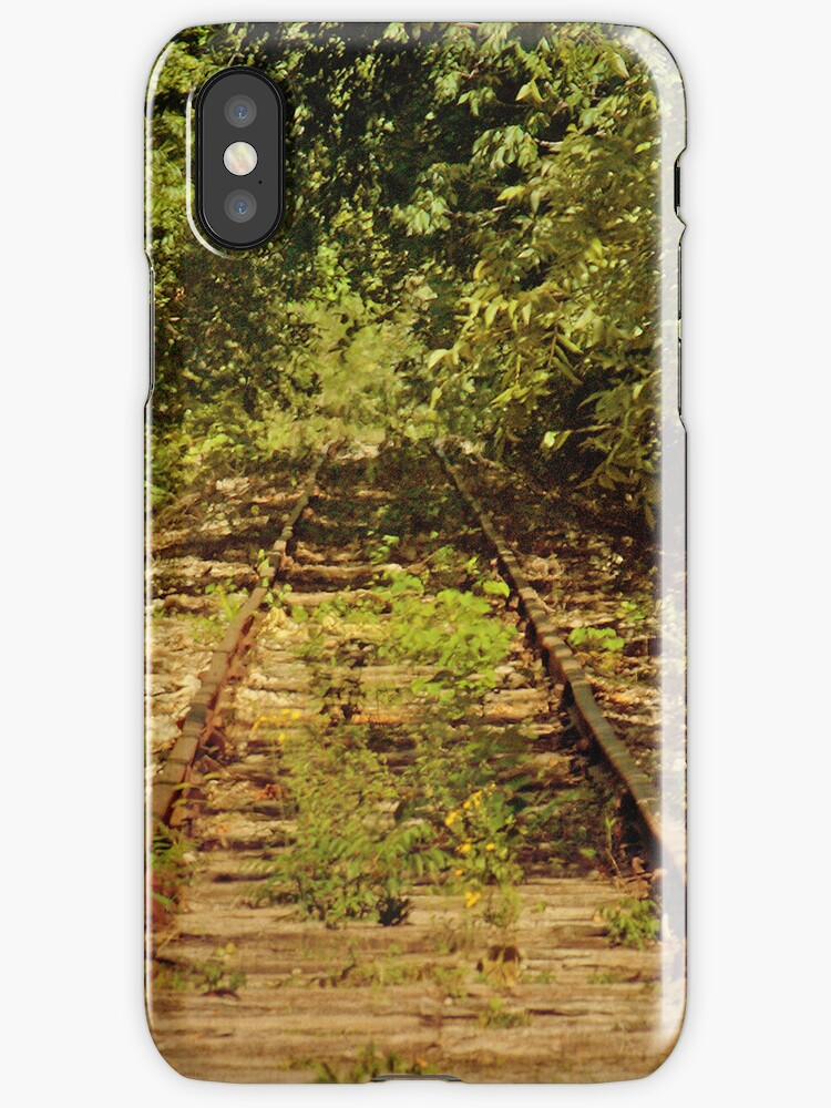 Old, Rusty Railroad Tracks iPhone 4 case by Lisa Holmgreen Porier