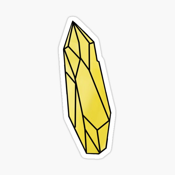 Yellow Kyber Crystal  Sticker