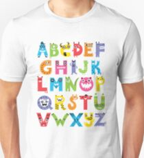Alphabet Monsters Unisex T-Shirt
