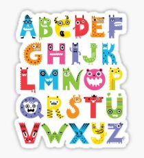 Alphabet Monsters Sticker