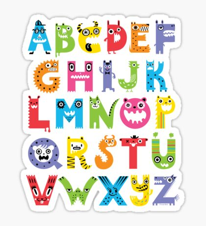 Alphabet Monsters Sticker