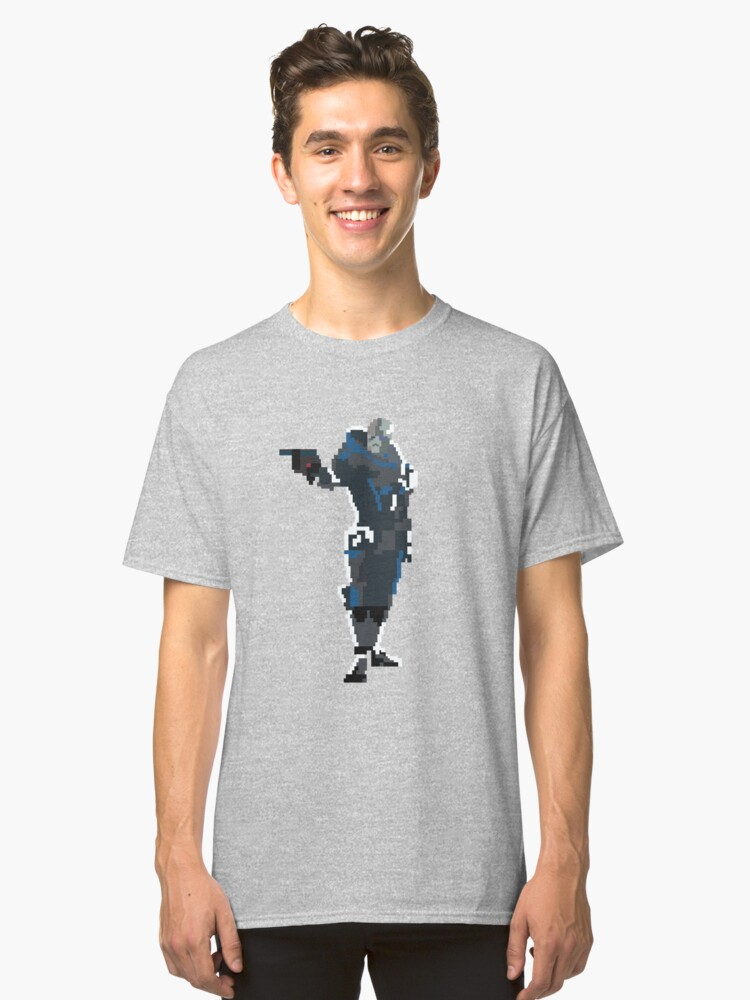 Alternate view of Retro Garrus Vakarian Classic T-Shirt
