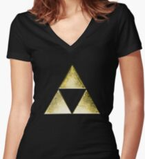 Force of three, golden version Women's Fitted V-Neck T-Shirt