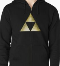 Force of three, golden version Zipped Hoodie