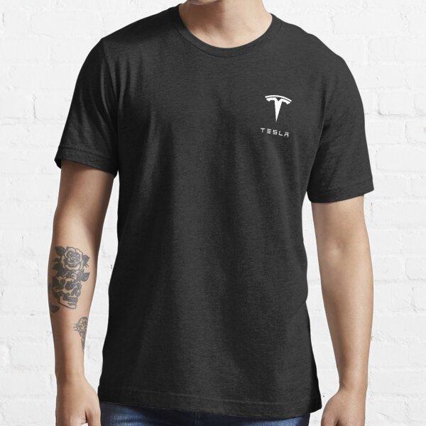 Tesla Logo White Essential T-Shirt