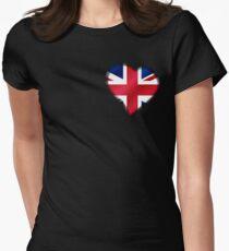 British Union Jack Flag - United Kingdom UK - Heart T-Shirt