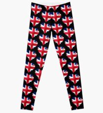 British Union Jack Flag - United Kingdom UK - Heart Leggings