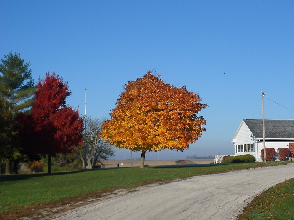 Fall at the Edge of Town by John McCloskey