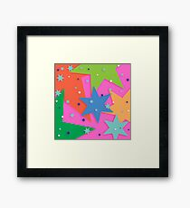 Starry and Colourful Framed Print