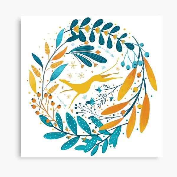 Greyhound flower sun sun yellow Canvas Print