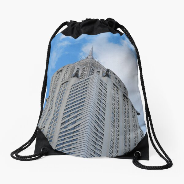 Skyscraper New York City Drawstring Bag