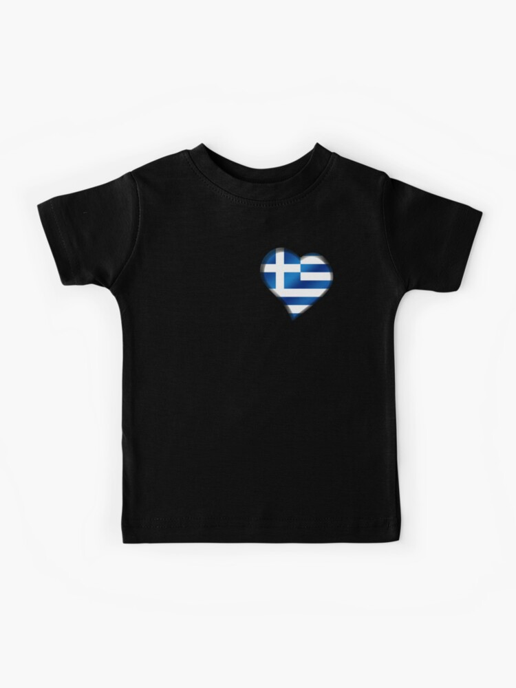 greek heart shirt Greek baby gift greek flag top