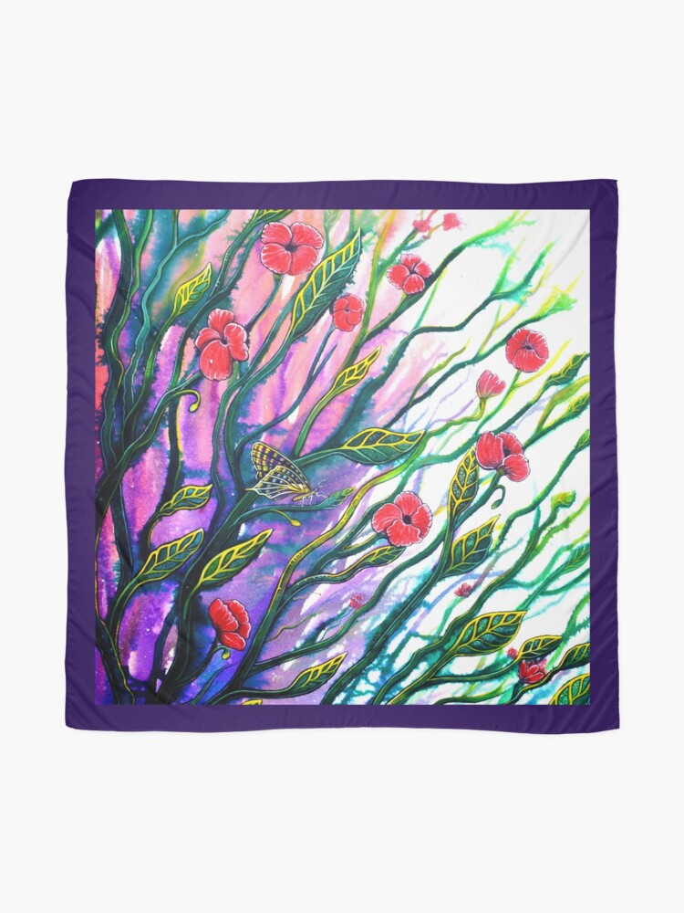 Alternate view of Morning Breeze - Flowers Scarf