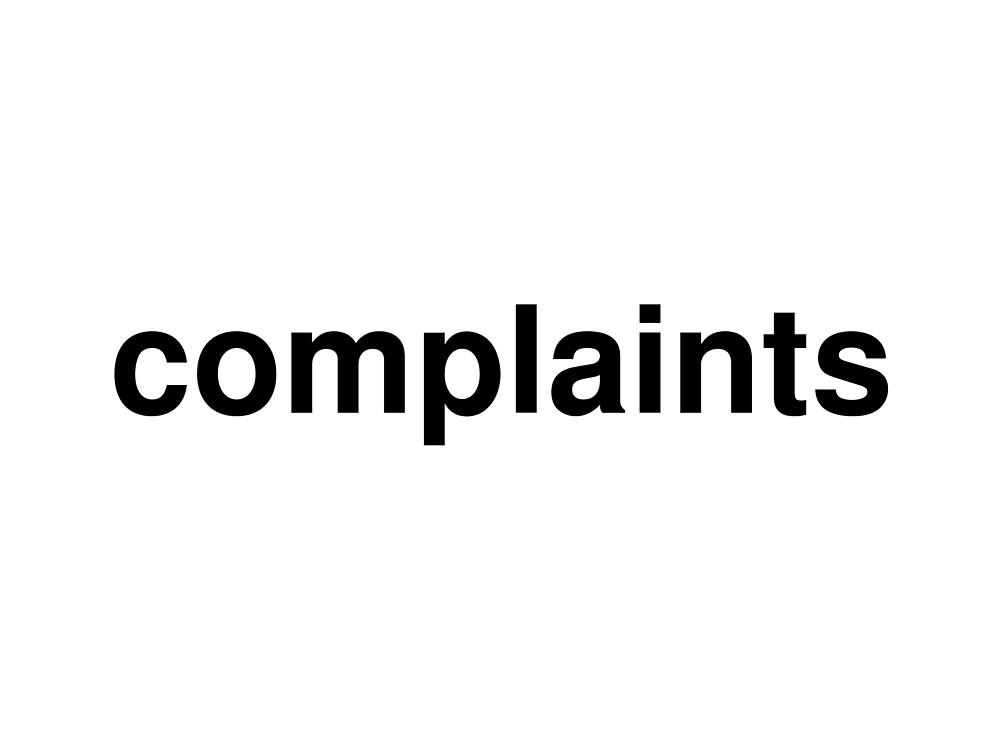 complaints by ninov94