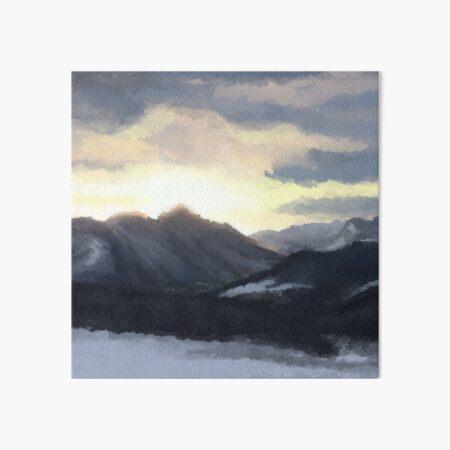 Bavaria in Winter Coat Art Board Print