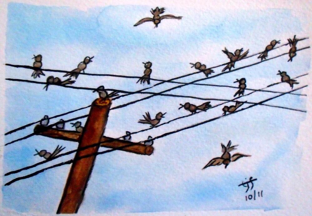 On a Wire by TrixiJahn