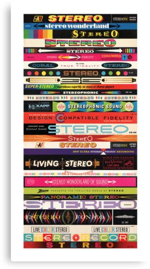 Stereo Stack Poster/Print #1 by jivetime