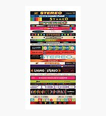 Stereo Stack Poster/Print #1 Photographic Print