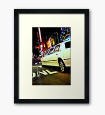 limo out of my way Framed Print
