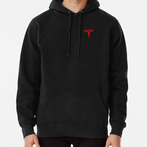 Tesla Logo Only Red Official Pullover Hoodie