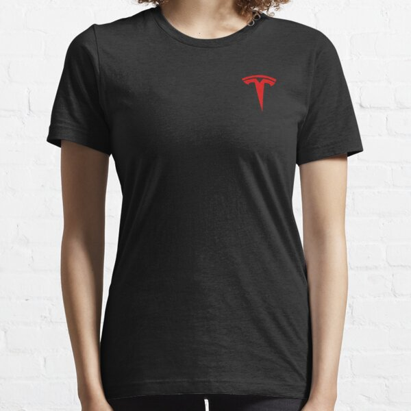 Tesla Logo Only Red Official Essential T-Shirt