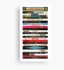 Stereo Stack Poster/Print #2 Canvas Print
