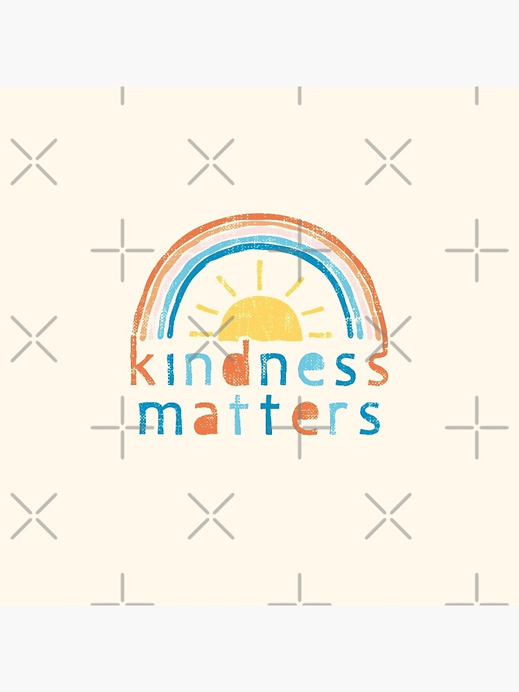 Kindness Matters. Typography Design with Rainbow by lents