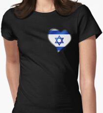 Israeli Flag - Israel - Heart T-Shirt