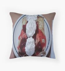 Strawberry Crepe Throw Pillow