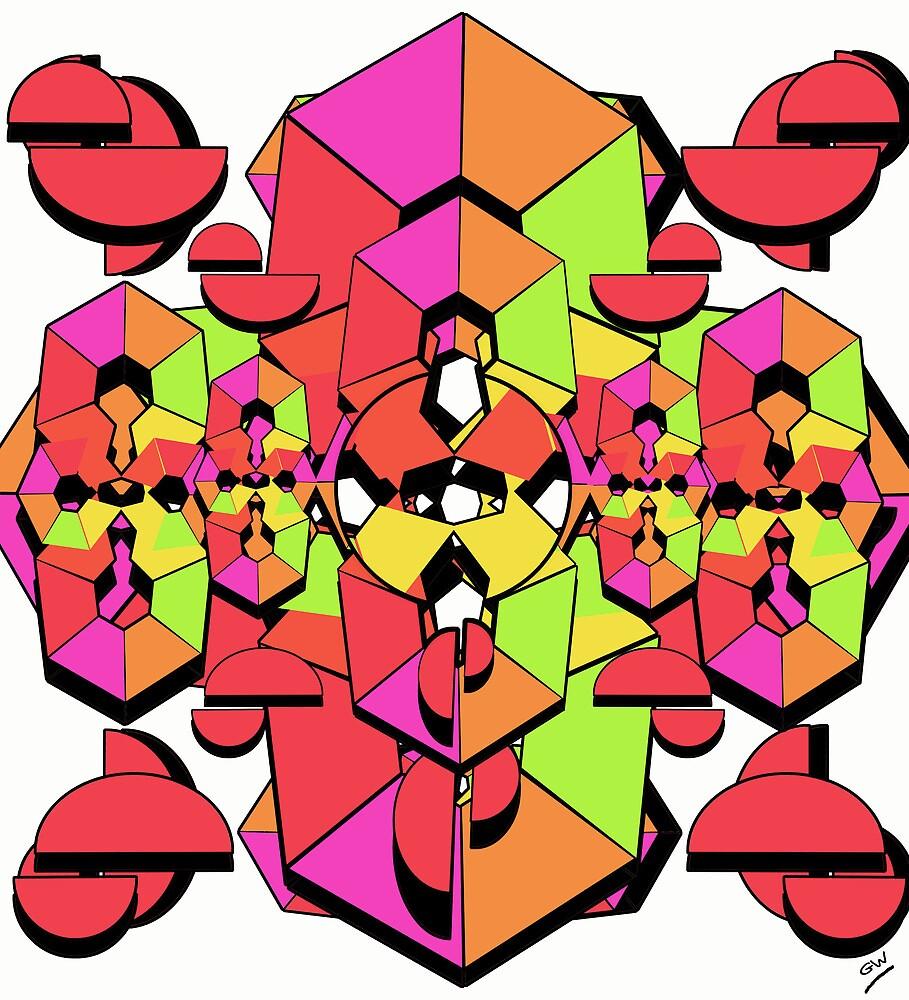 Geometric Colour Construction 1 by Grant Wilson