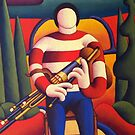 The uileann piper by Alan Kenny
