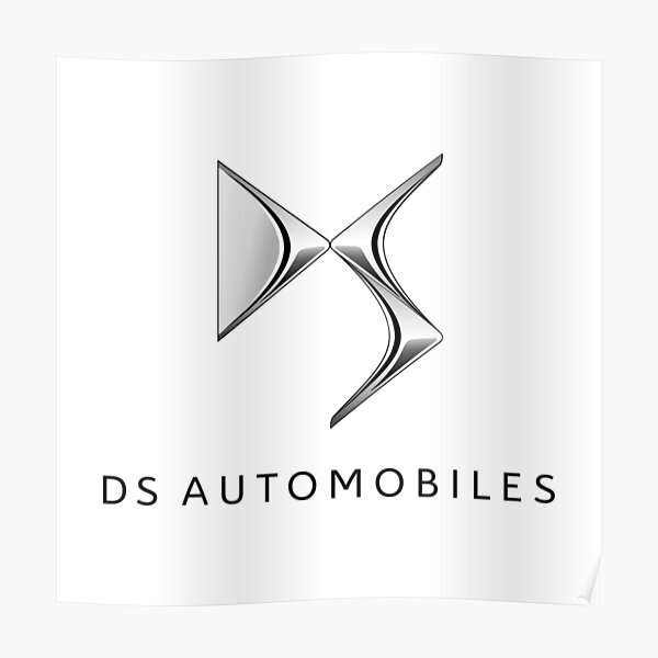 DS Automobiles Logo in Black Poster