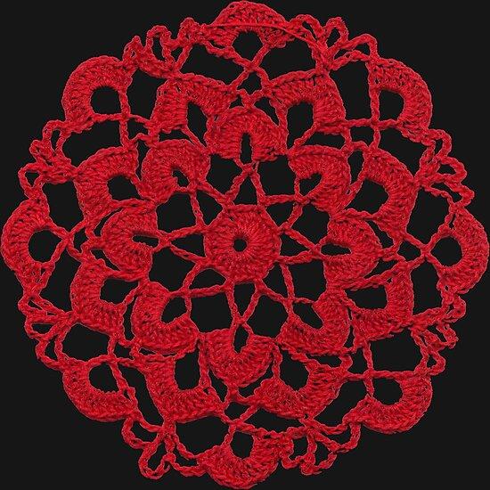 Red Crochet Circle by britannyart