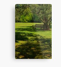 Sunny Day Under the Willow Metal Print