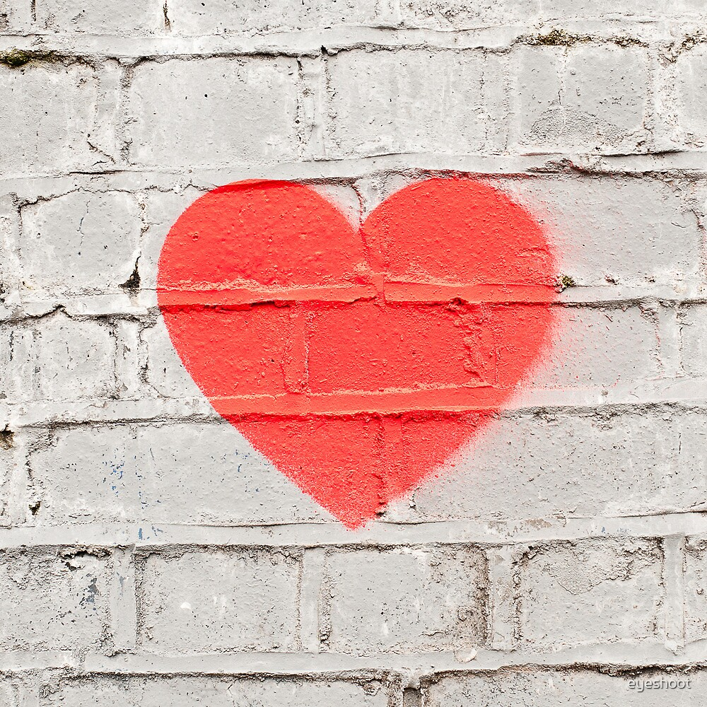 Heart on the Wall by eyeshoot
